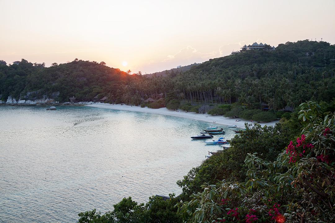 Shark Bay at Sunset, Koh Tao, Thailand